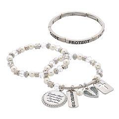 Guardian Angel Stretch Bracelet Set