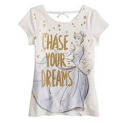 Disney's Cinderella 'Chase Your Dreams' Girls 4-10 Faux-Tie Back Graphic Tee by Jumping Beans®