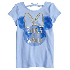 Disney's Minnie Mouse Girls 4-10 Tie Back 'Girls Run The World' Graphic Tee by Disney/Jumping Beans®
