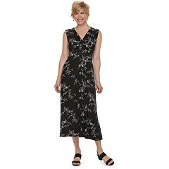 Women's Croft & Barrow® Print Surplice Midi Dress