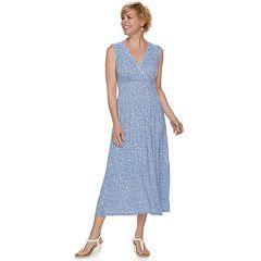Women's Croft & Barrow® Print Surplice Midi Dress