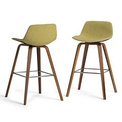 Simpli Home Randolph Bentwood Bar Stool 2-piece Set