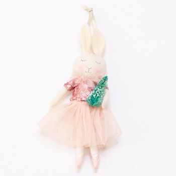 lc lauren conrad bunny ballerina christmas ornament