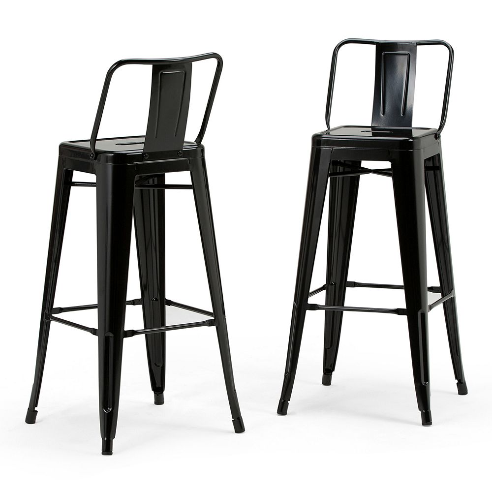 Simpli Home Rayne Metal Bar Stool 2-piece Set