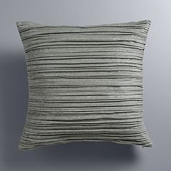 Simply Vera Vera Wang Gray Crinkled Velvet Throw Pillow