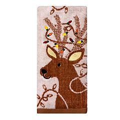 St. Nicholas Square® Holiday Cheer Deer Jacquard Hand Towel