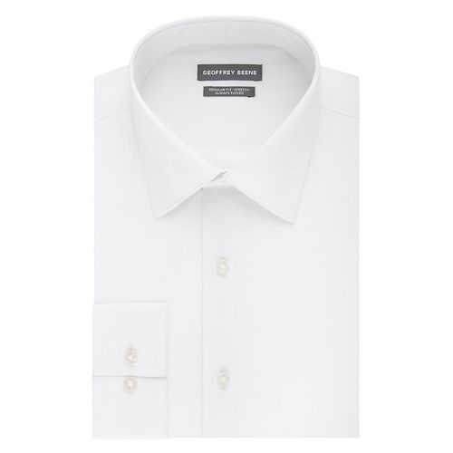 Men's Geoffrey Beene Always Tucked Regular-Fit Stretch Spread-Collar Dress Shirt