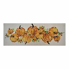 Celebrate Fall Together Tapestry Pumpkin Table Runner - 36'