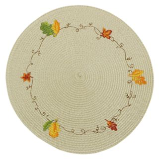 Celebrate Fall Together Round Leaf Placemat