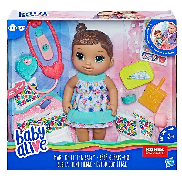 Baby Alive Brunette Make Me Better Baby Doll