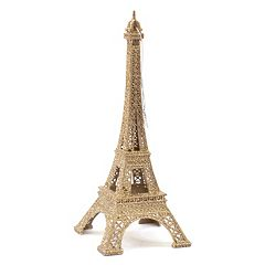 LC Lauren Conrad Gold Finish Eiffel Tower Paris Christmas Ornament