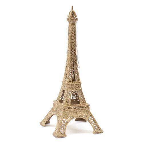 Paris Christmas Ornament.Lc Lauren Conrad Gold Finish Eiffel Tower Paris Christmas