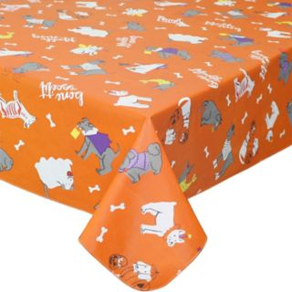 Celebrate Halloween Together Halloween Vinyl Dog Costume Tablecloth