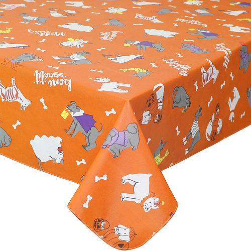Celebrate Halloween Together Halloween Vinyl Dog Costume Tablecloth
