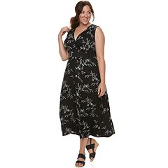 Plus Size Croft & Barrow® Printed Surplice Dress