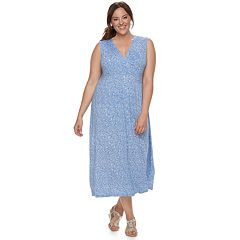 Plus Size Croft & Barrow® Printed Surplice Dress