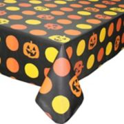 Celebrate Halloween Together Vinyl Pumpkin Tablecloth