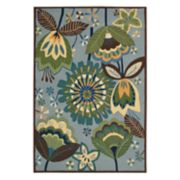 Nourison Fantasy Aqua Floral Area Rug