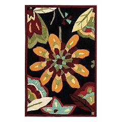 Nourison Fantasy Black Floral Area Rug