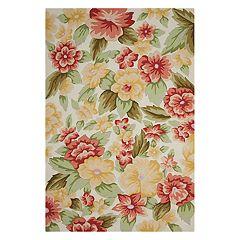 Nourison Fantasy Floral Cream Area Rug