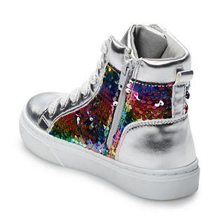 SO® Zina Girls' Mermaid Sequin High Top Sneakers