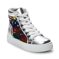 SO® Zina Girls' Mermaid Sequin High Top Sneakers