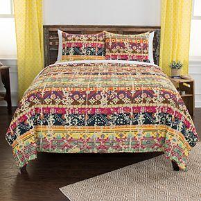 Rizzy Home Maddux Place Dash Geometric Quilt Set