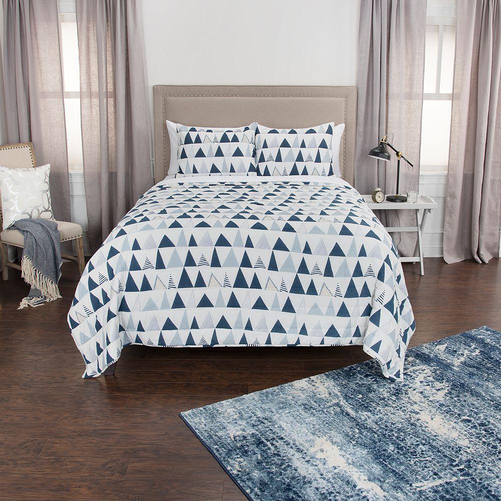 Rizzy Home Maddux Place Flint Geometric Quilt Set