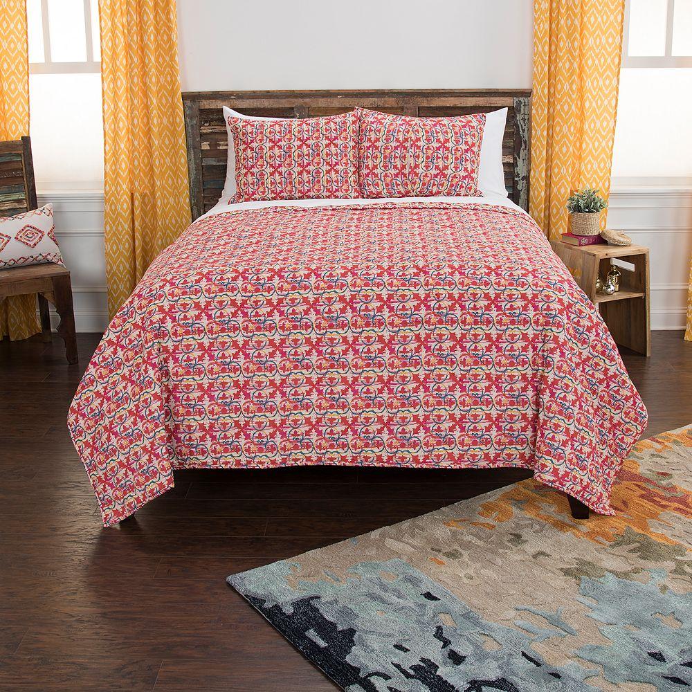 Rizzy Home Maddux Place Lilou Geometric Quilt Set