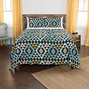 Rizzy Home Maddux Place Miles Geometric Quilt Set