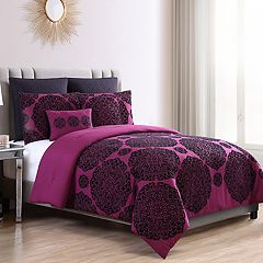 VCNY Home Tayden 7-piece Flocked Medallion Comforter Set