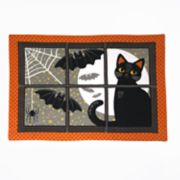 Celebrate Halloween Together Black Cat Placemat
