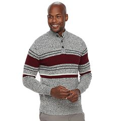 Men's Croft & Barrow® Classic-Fit Button Mockneck Sweater