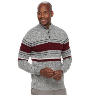 Men's Croft & Barrow® Classic-Fit Button Mockneck Sweater