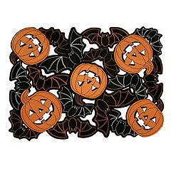Celebrate Halloween Together Bat Cutout Placemat