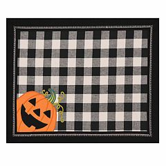 Celebrate Halloween Together Gingham Pumpkin Placemat