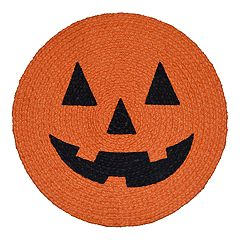 Celebrate Halloween Together Braided Pumpkin Placemat