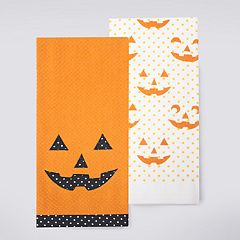 Celebrate Halloween Together Jack-o'-Lantern Kitchen Towel 2-pack