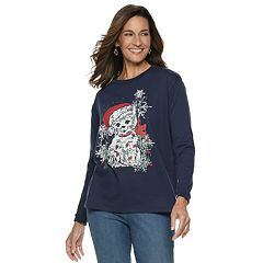 Women's Christmas Graphic Fleece Sweatshirt