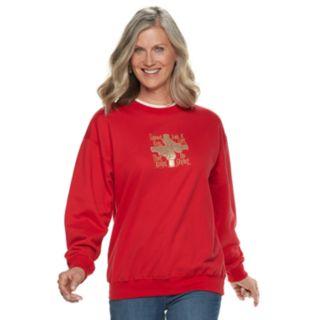 Women's Holiday Crewneck Graphic Sweatshirt
