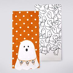Celebrate Halloween Together Ghost Kitchen Towel 2-pack