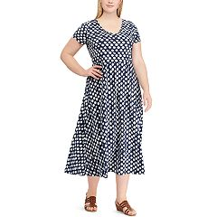 Plus Size Chaps Print Casual Dress