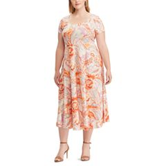 Plus Size Chaps Fit & Flare Midi Dress
