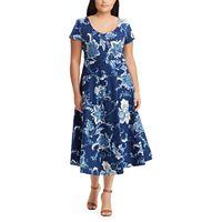 Plus Size Chaps Fit & Flare Midi Dress