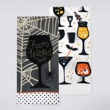 "Celebrate Halloween Together ""Cheers Witches"" Kitchen Towel 2-pack"