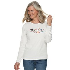 Women's Christmas Crewneck Graphic Tee