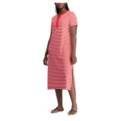 Plus Size Chaps Stripe Dress