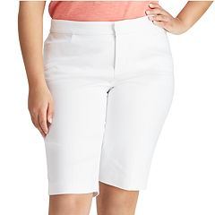Plus Size Chaps Stretch Cotton-Blend Short