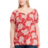 Plus Size Chaps Print Top