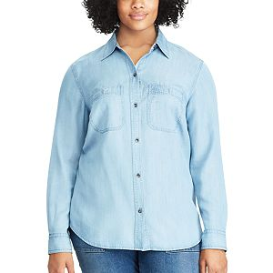 64bca910521 Plus Size Chaps No Iron Broadcloth Shirt. (19). Original